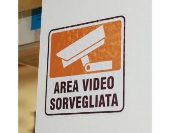 AREA VIDEOSORVEGLIATA  DA MURO 10x9cm
