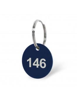 Portachiavi numerati in alluminio