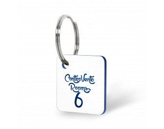 Portachiavi numerati quadrati con logo
